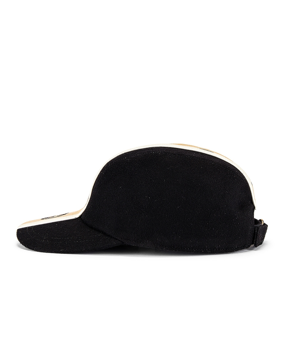 Image 3 of Gucci Baseball Cap in Black & Beige