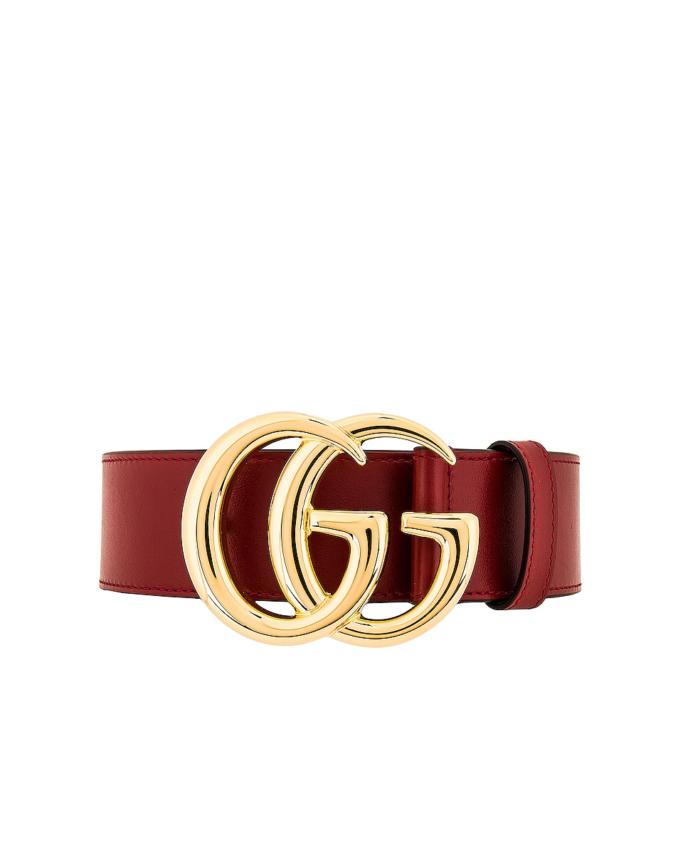 Image 1 of Gucci GG Belt in Red