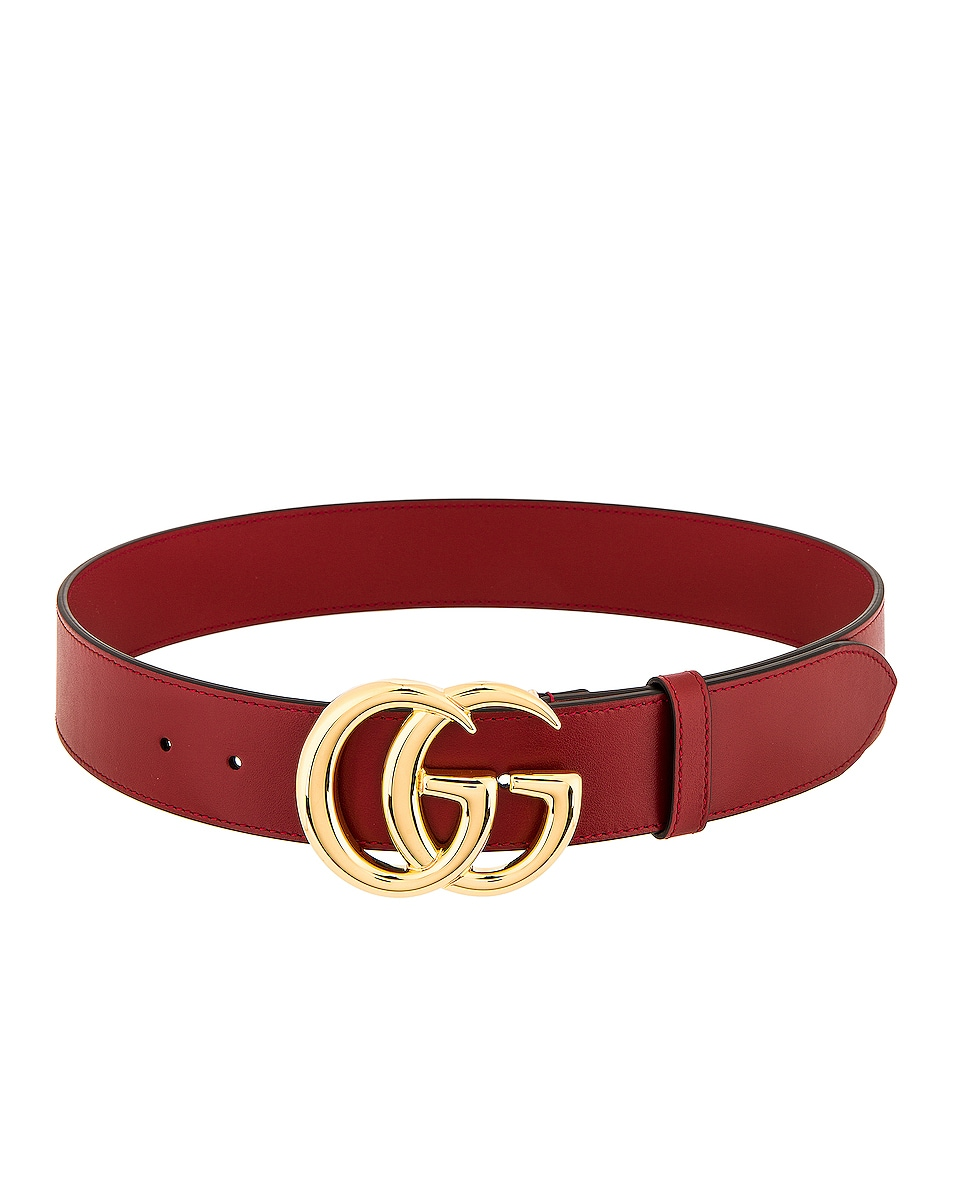 Image 2 of Gucci GG Belt in Red