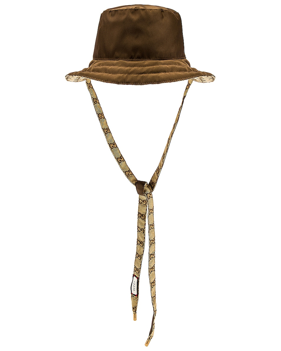 Image 1 of Gucci Fisherman Hat in Brown & Light Brown