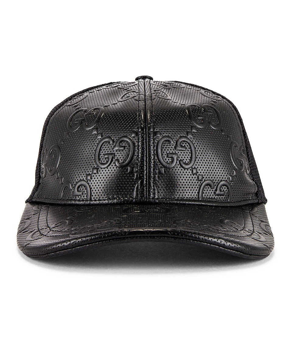 Image 1 of Gucci Baseball Cap in Black & Black