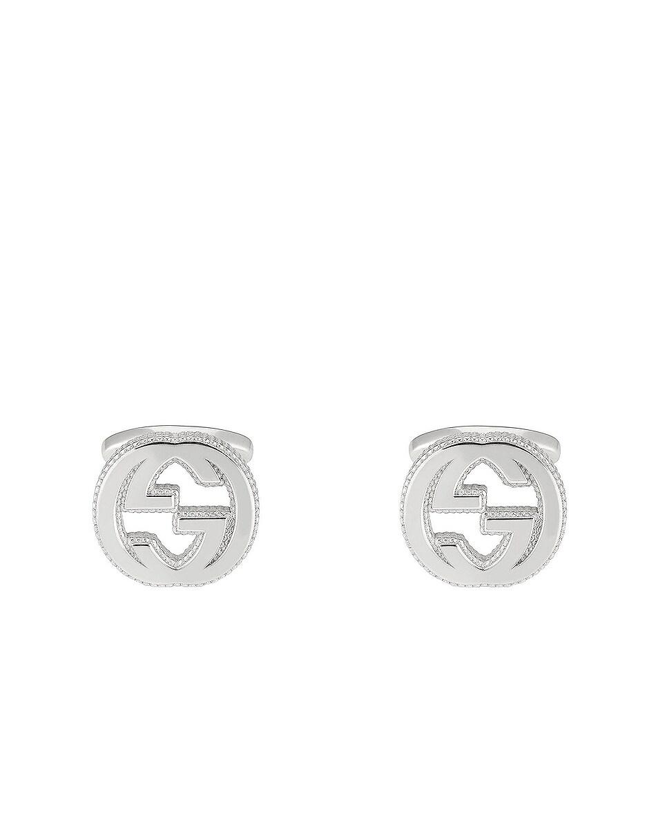 Image 1 of Gucci Interlocking G Cufflinks in Sterling Silver