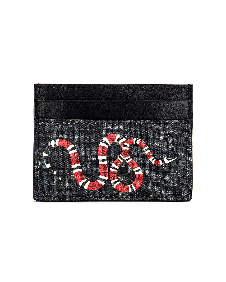 Image 1 of Gucci Card Holder in Black & Multi