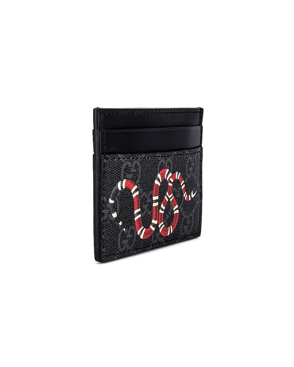Image 3 of Gucci Card Holder in Black & Multi