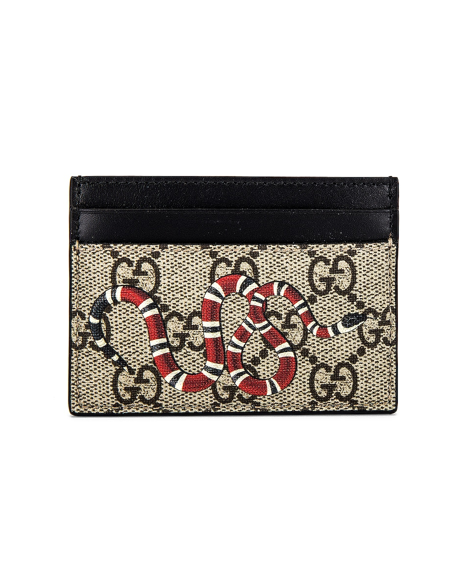 Image 1 of Gucci Cardholder in Beige Ebony & Mukti & Black