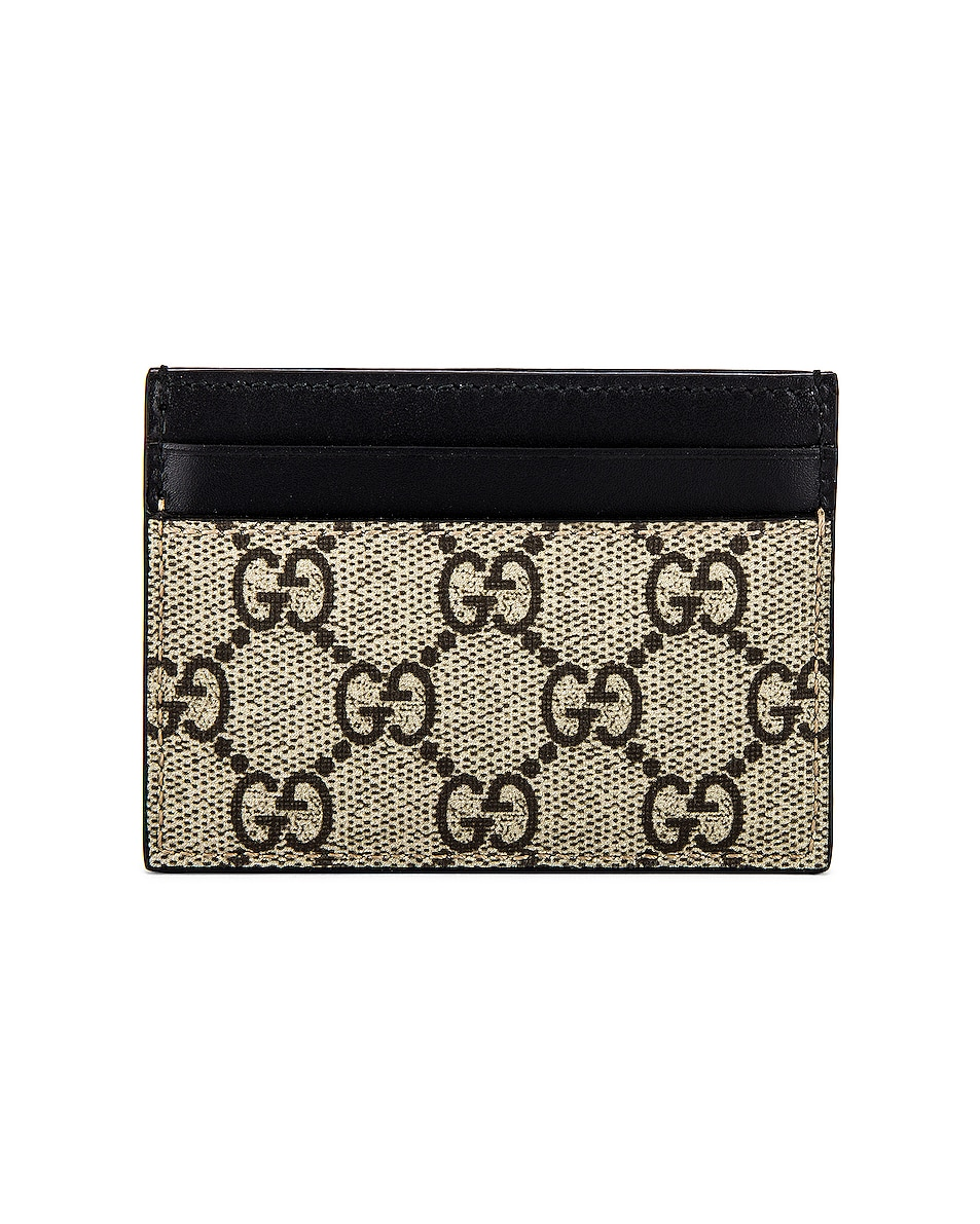 Image 2 of Gucci Cardholder in Beige Ebony & Mukti & Black