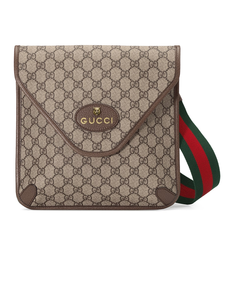 Image 1 of Gucci Neo Vintage GG Medium Messenger Bag In Beige Ebony & Green & Red in Beige Ebony & Green & Red
