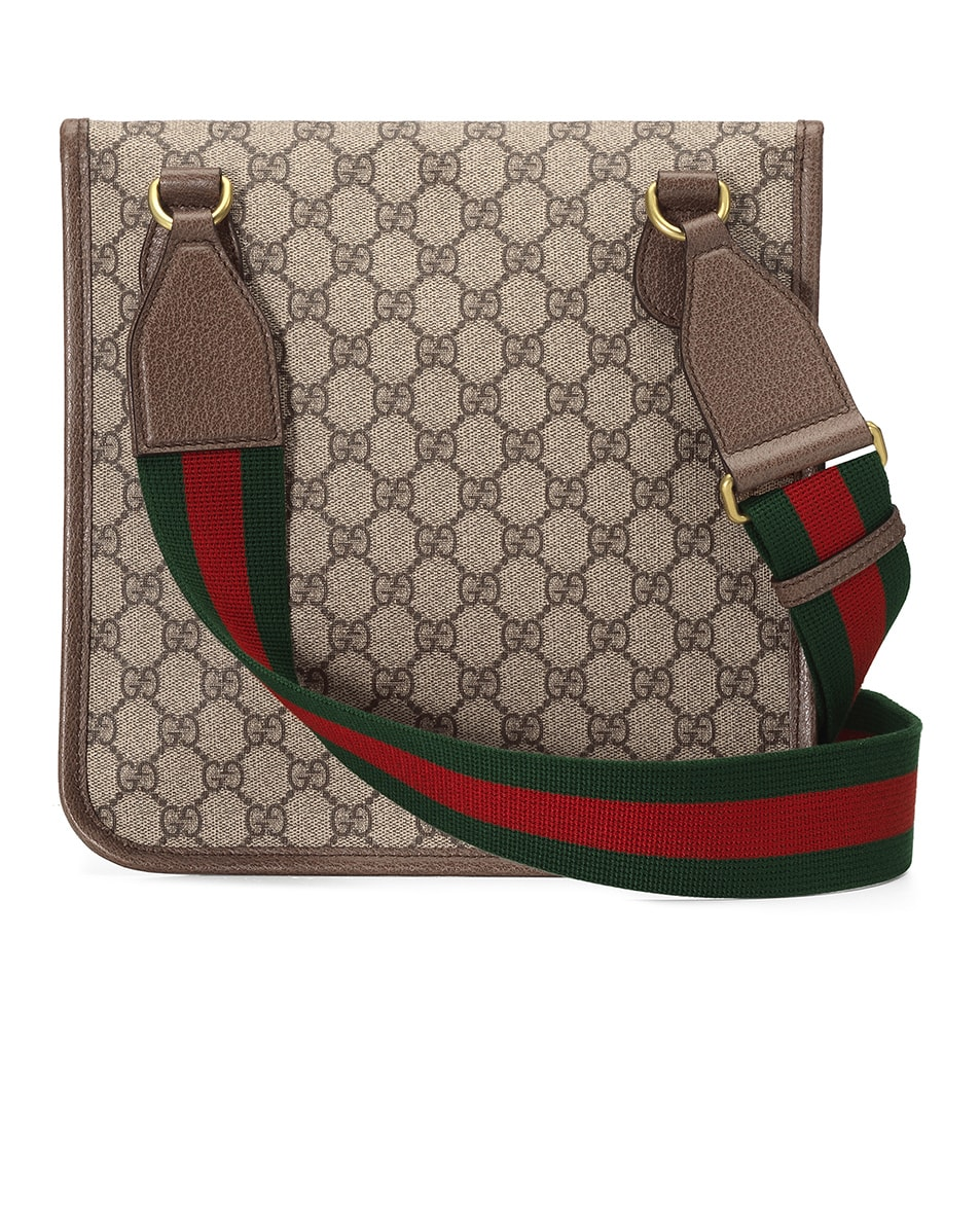 Image 2 of Gucci Neo Vintage GG Medium Messenger Bag In Beige Ebony & Green & Red in Beige Ebony & Green & Red