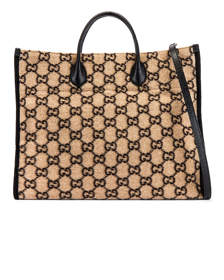 Image 1 of Gucci Tote Bag in Beige Ebony & Black