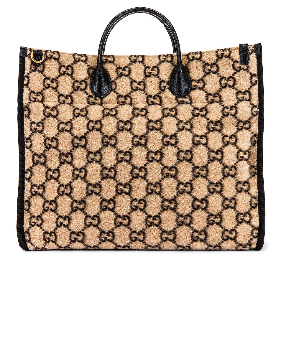 Image 2 of Gucci Tote Bag in Beige Ebony & Black