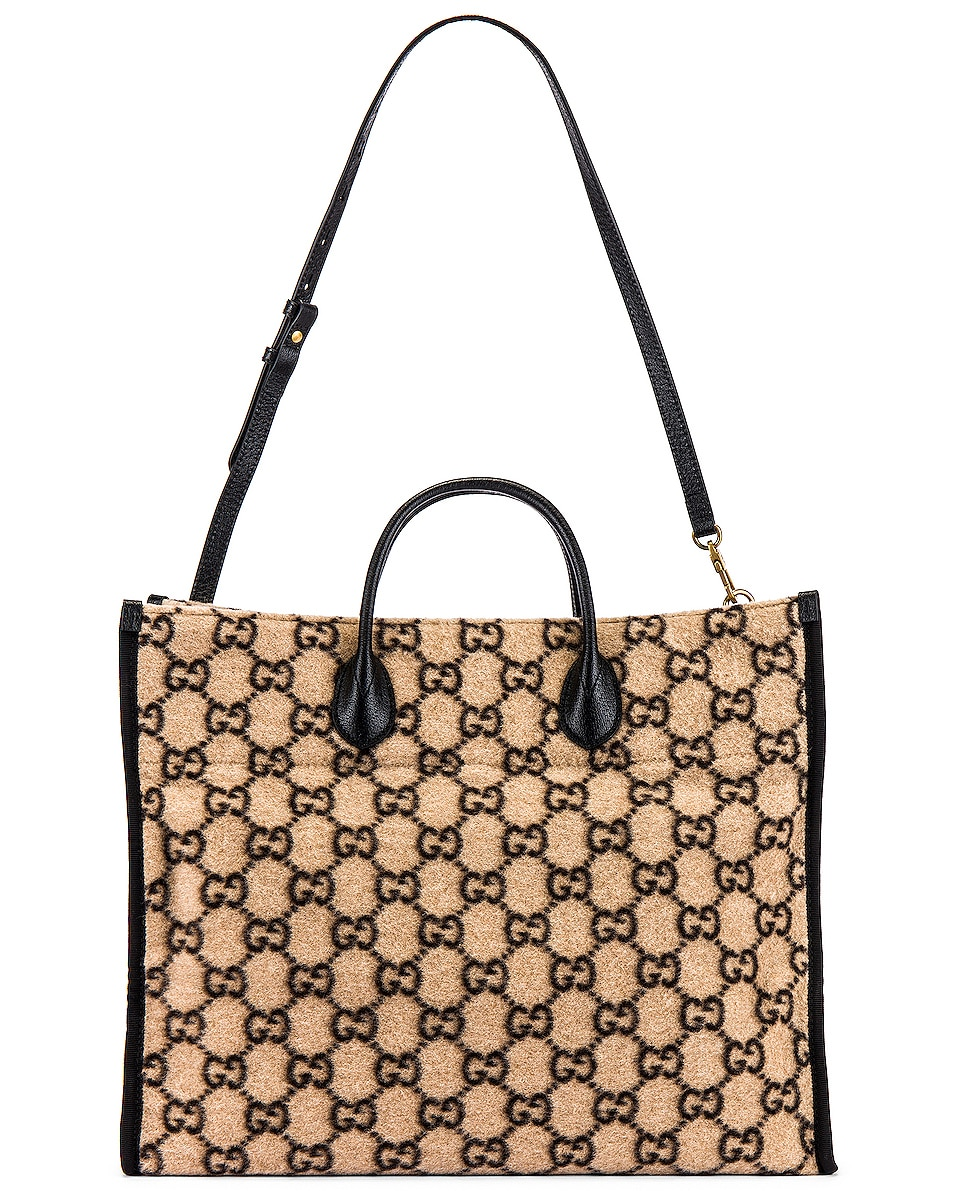 Image 5 of Gucci Tote Bag in Beige Ebony & Black