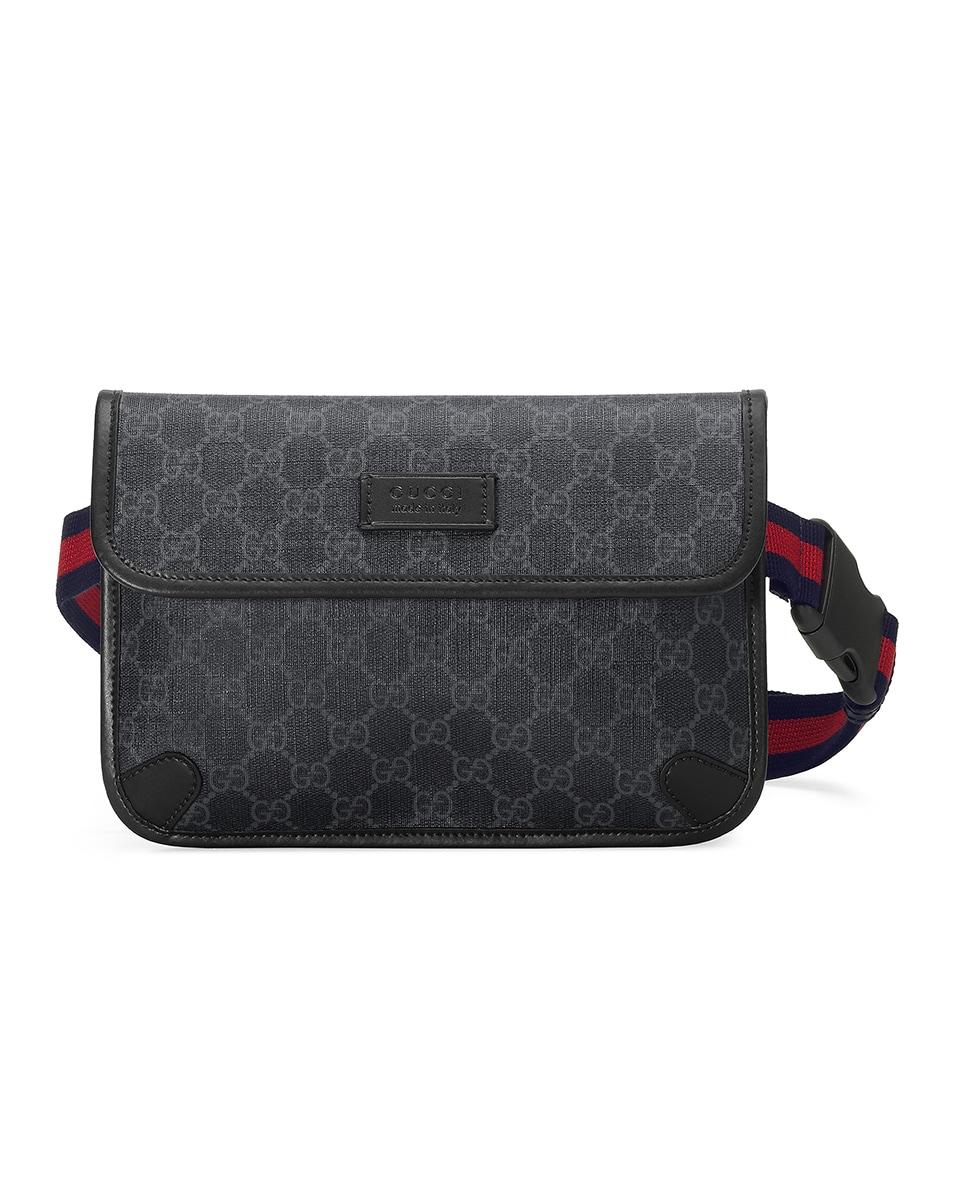 Image 1 of Gucci GG Supreme Belt Bag In Black in Black