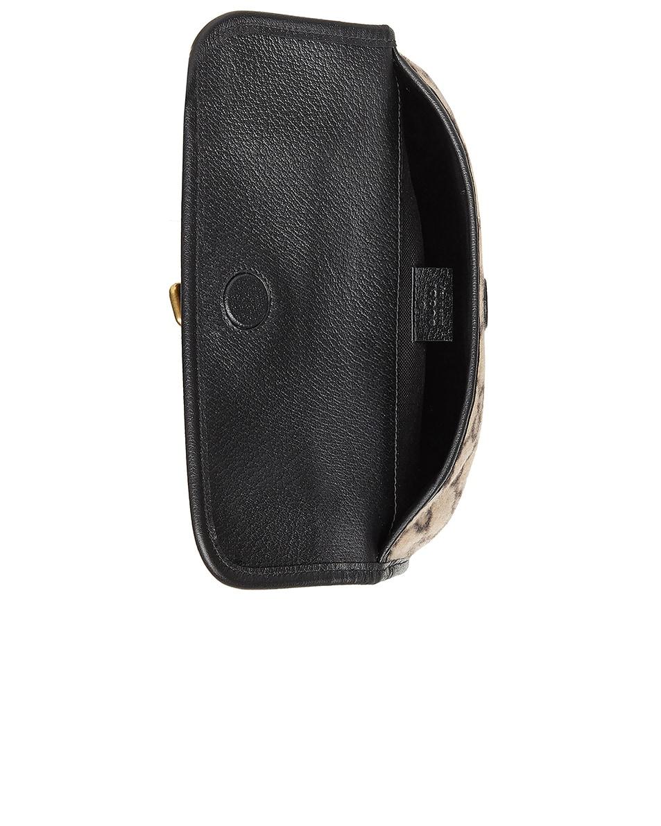 Image 4 of Gucci GG Wool Belt Bag In Beige Ebony & Black in Beige Ebony & Black