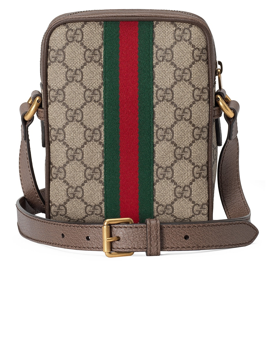 Image 2 of Gucci GG Shoulder Bag In Beige Ebony & Green & Red in Beige Ebony & Green & Red
