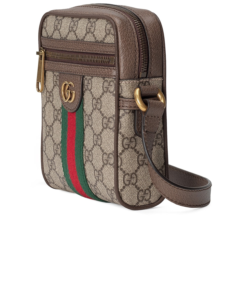 Image 3 of Gucci GG Shoulder Bag In Beige Ebony & Green & Red in Beige Ebony & Green & Red