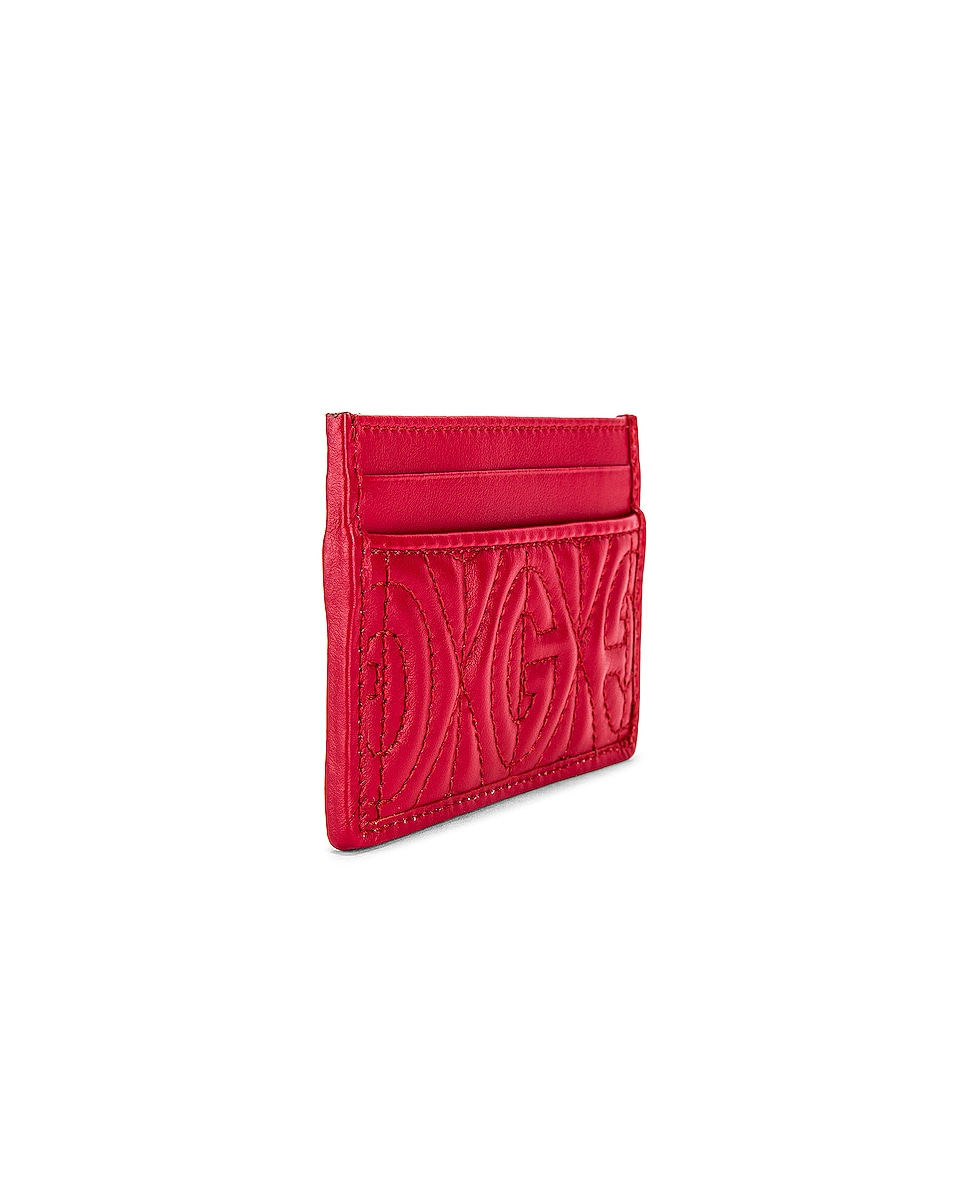 Image 3 of Gucci Card Holder in Hibis Red
