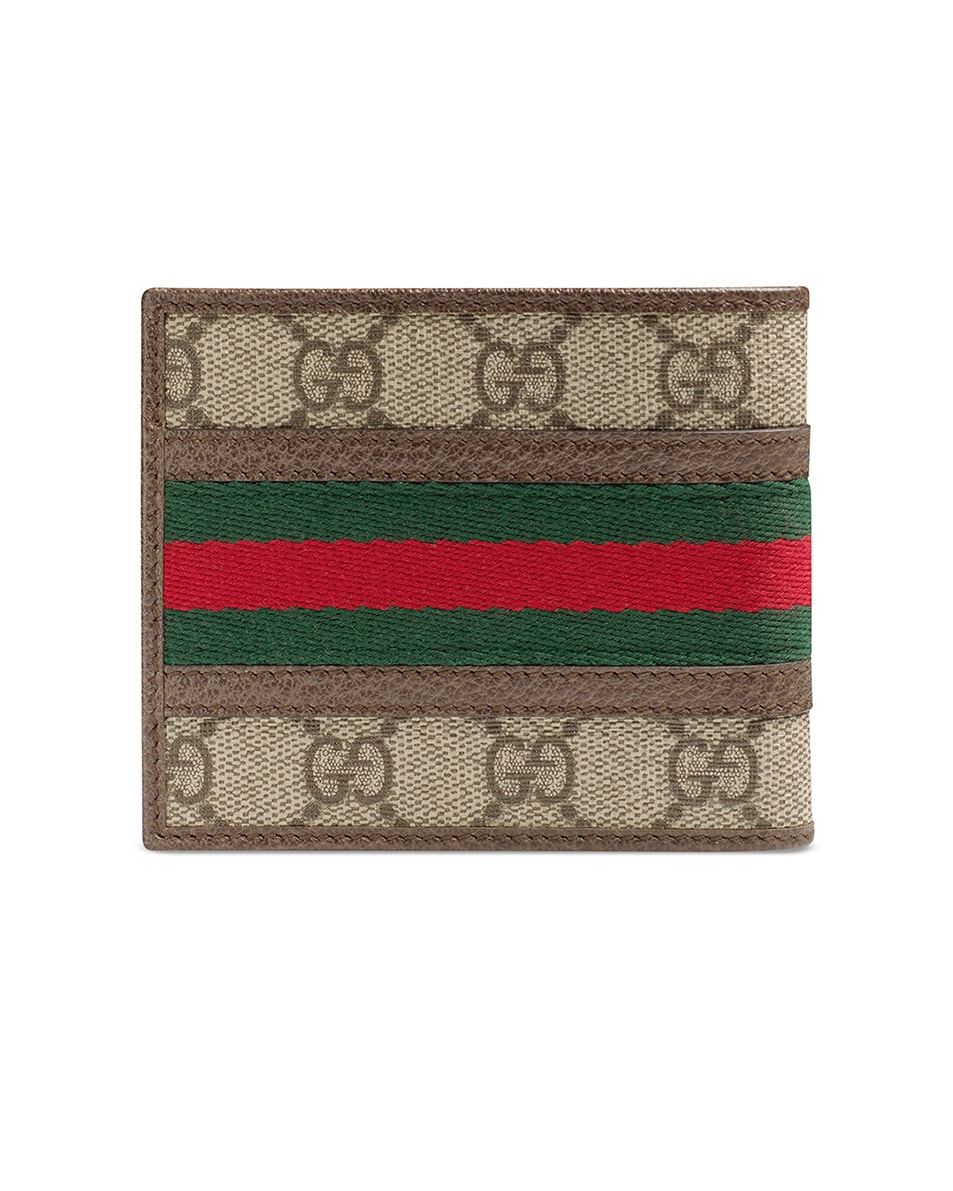Image 2 of Gucci GG Wallet In Beige Ebony & Green & Red in Beige Ebony & Green & Red