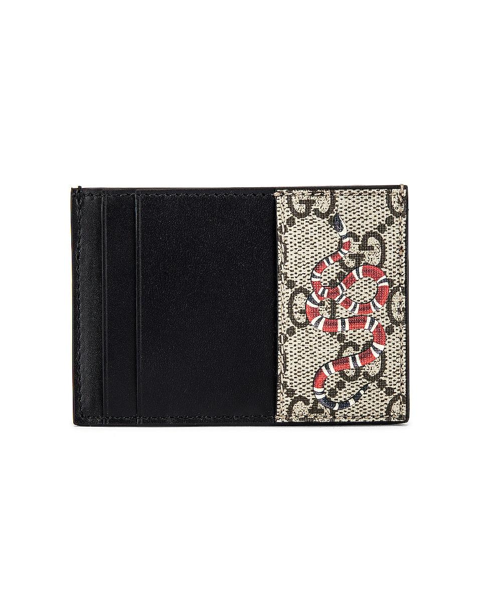 Image 1 of Gucci Card Holder in Beige Ebony & Mutli & Black
