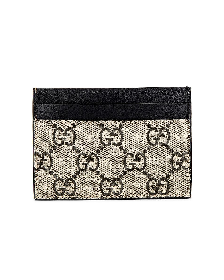 Image 2 of Gucci Card Holder in Beige Ebony & Mutli & Black