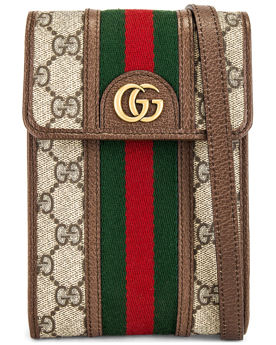 Image 1 of Gucci Crossbody Bag in Beige Ebony & N.Acero & Vrv