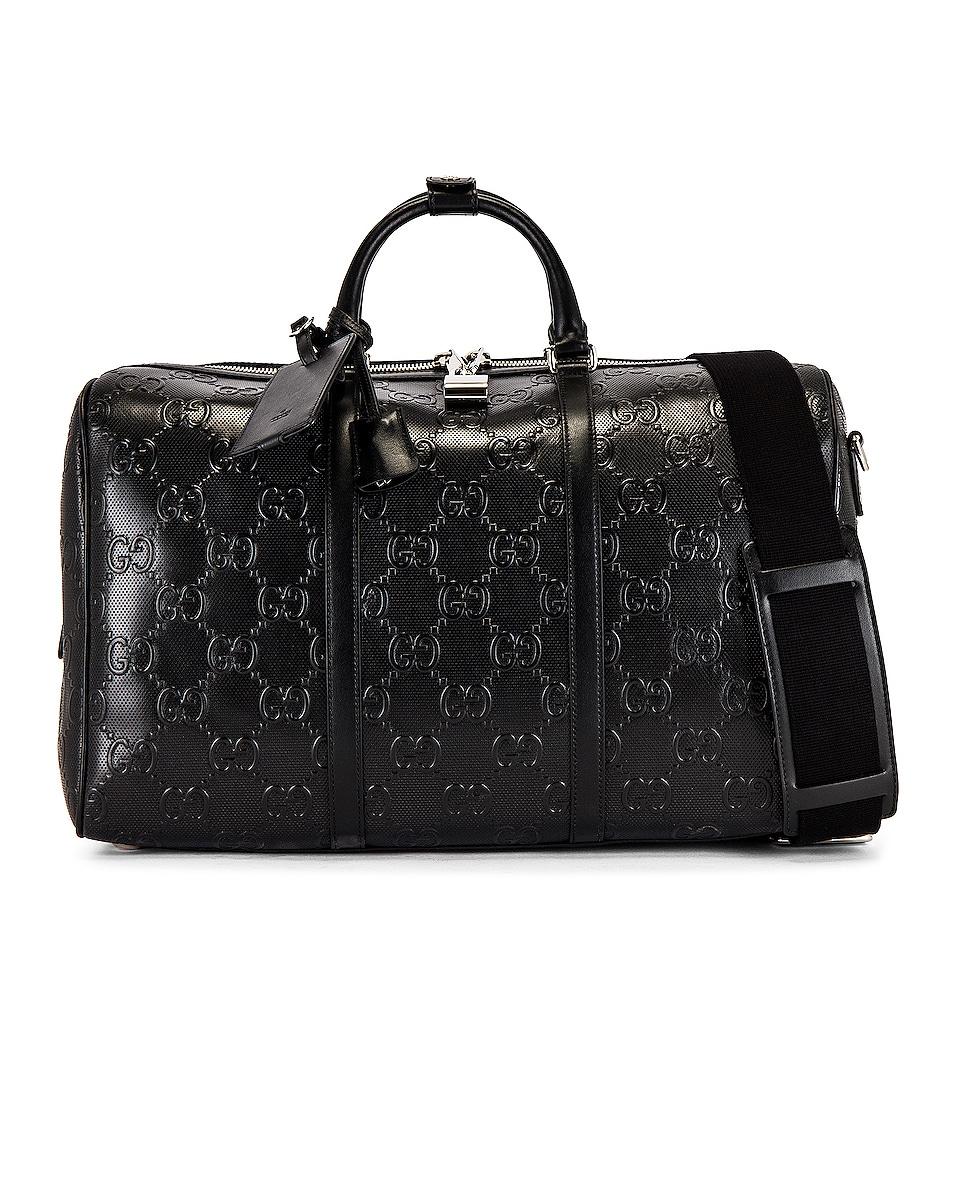Image 1 of Gucci GG Tennis Duffel Bag in Black