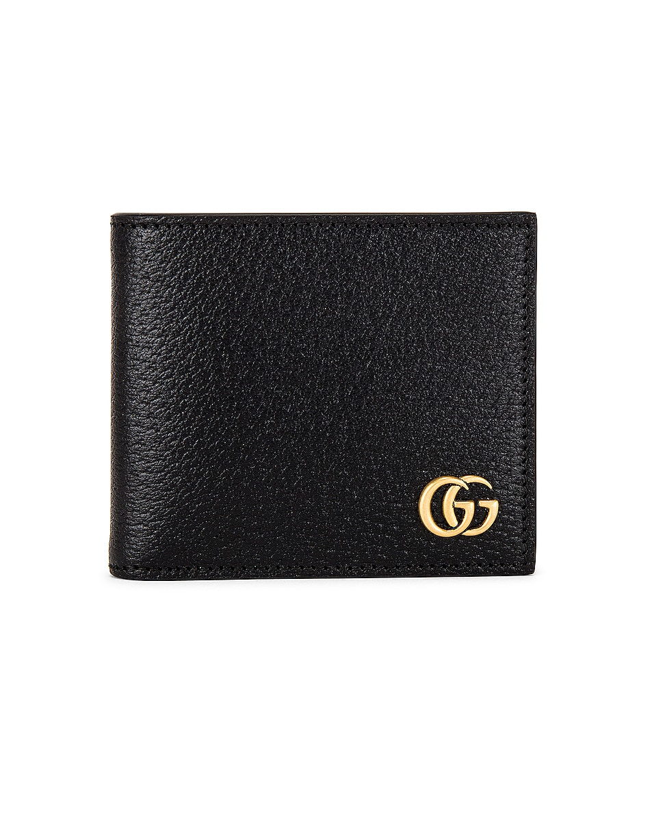 Image 1 of Gucci Dollar Pigprint Wallet in Black