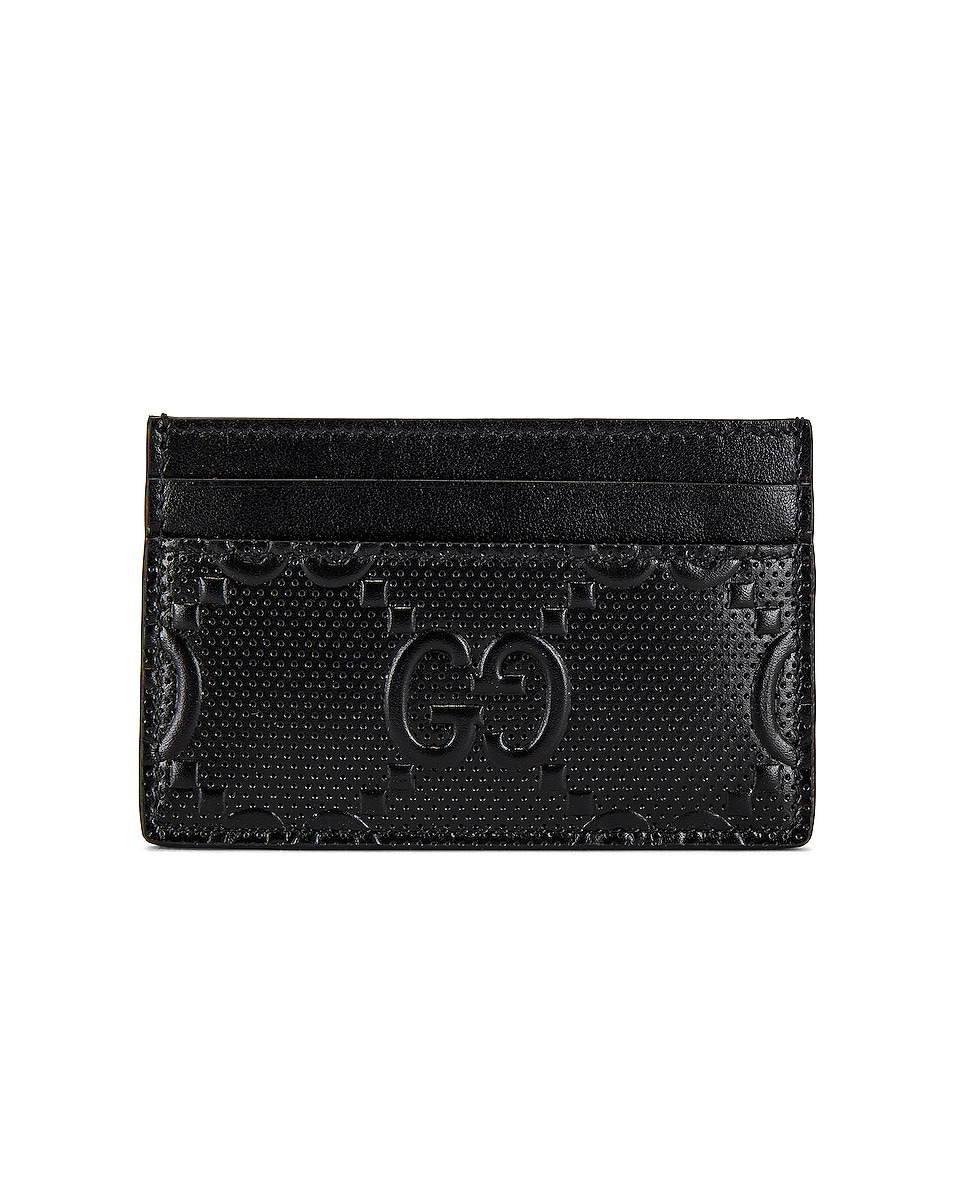 Image 1 of Gucci GG Tennis Cardholder in Black