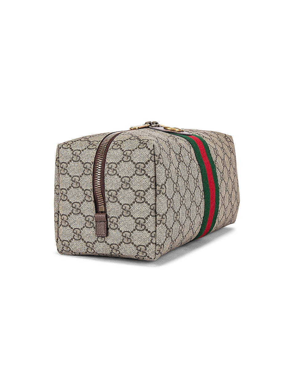 Image 3 of Gucci Pouch in Beige Ebony & Green 7 Red