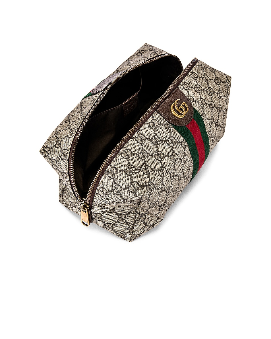 Image 4 of Gucci Pouch in Beige Ebony & Green 7 Red