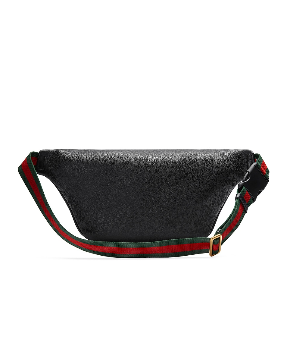 Image 2 of Gucci Gucci Print Leather Belt Bag In Black in Black