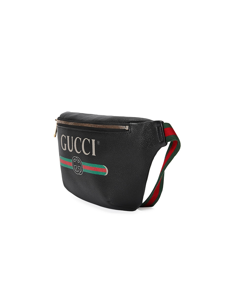 Image 3 of Gucci Gucci Print Leather Belt Bag In Black in Black