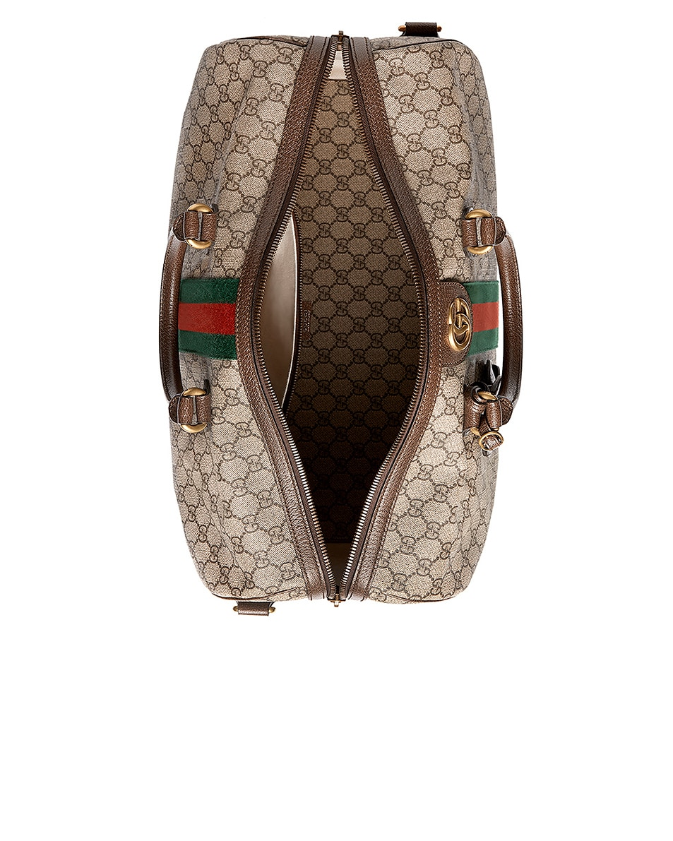 Image 4 of Gucci Ophidia Gg Medium Carry-On Duffle In Beige Ebony & Green & Red in Beige Ebony & Green & Red