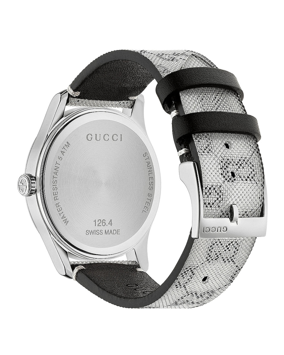 Image 2 of Gucci 38MM G-Timeless Holographic Watch in White & Black