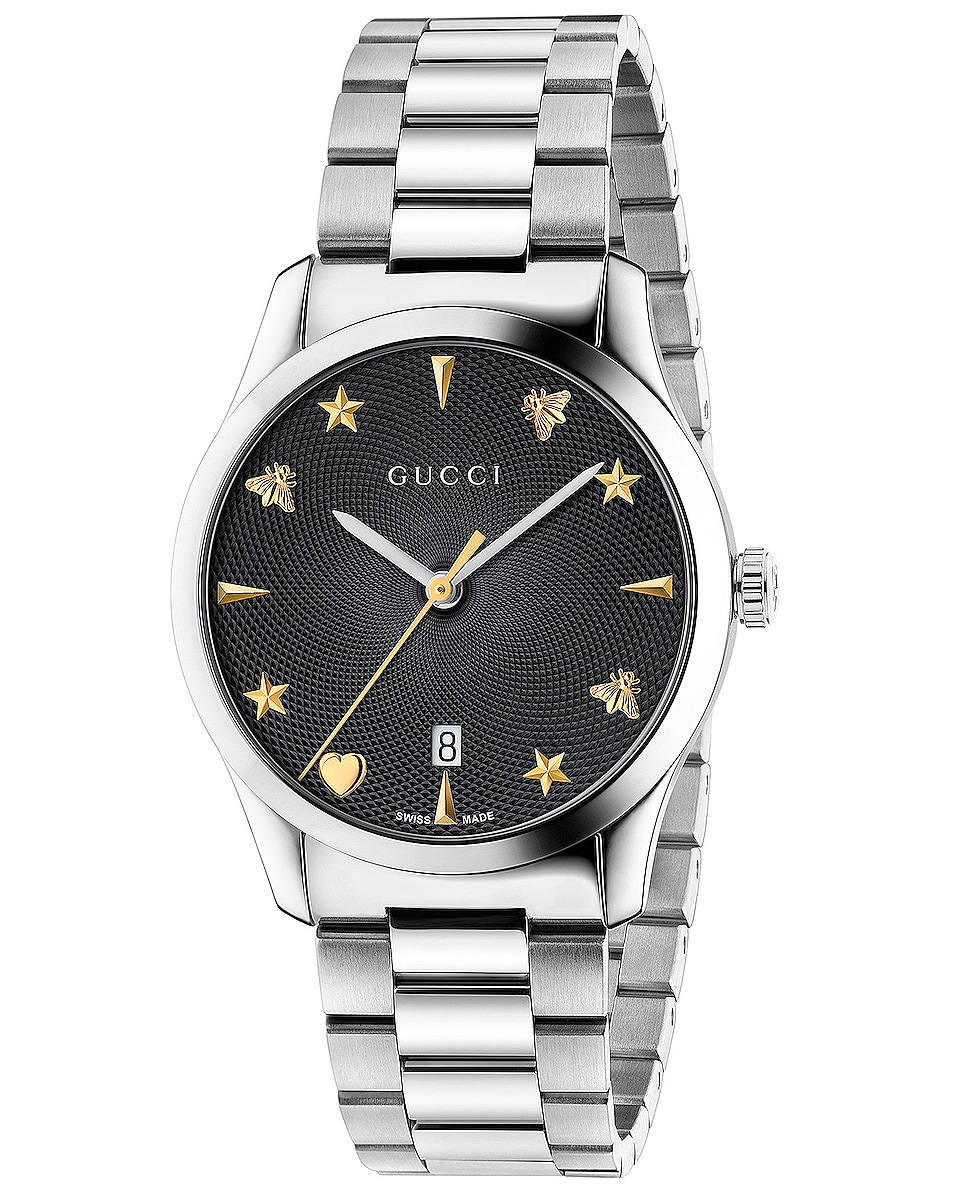 Image 1 of Gucci 126MD Watch in Black & Silver