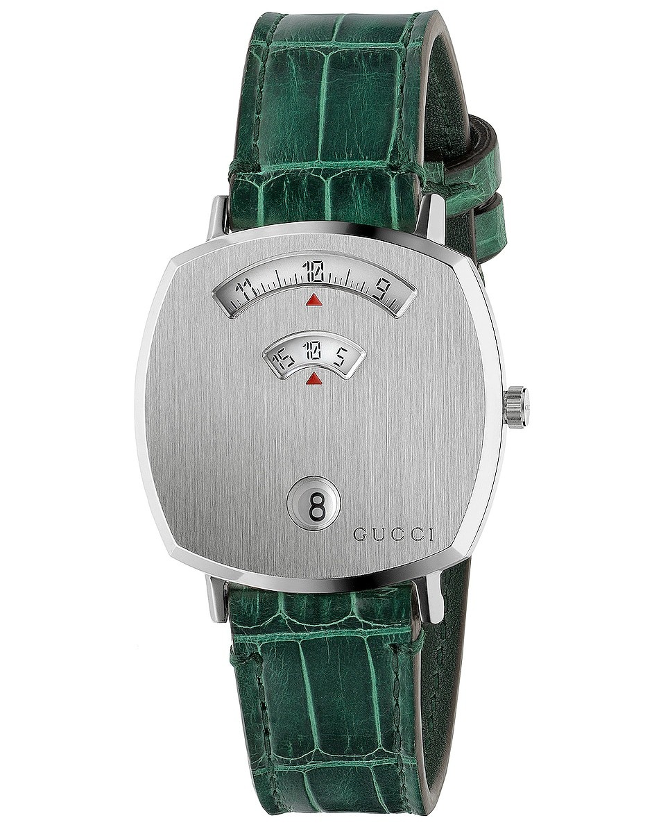 Image 1 of Gucci 157MD Watch in Green & Green Alligator