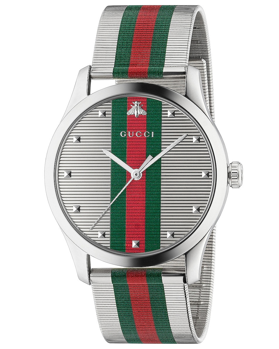 Image 1 of Gucci G-Timeless Contemporary 42mm Watch in Silver
