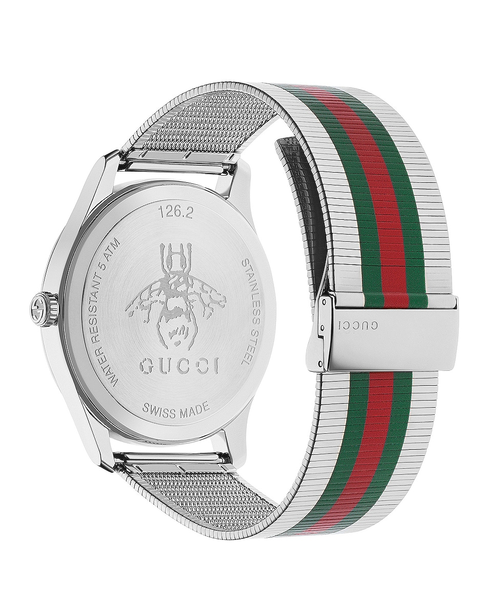 Image 2 of Gucci G-Timeless Contemporary 42mm Watch in Silver