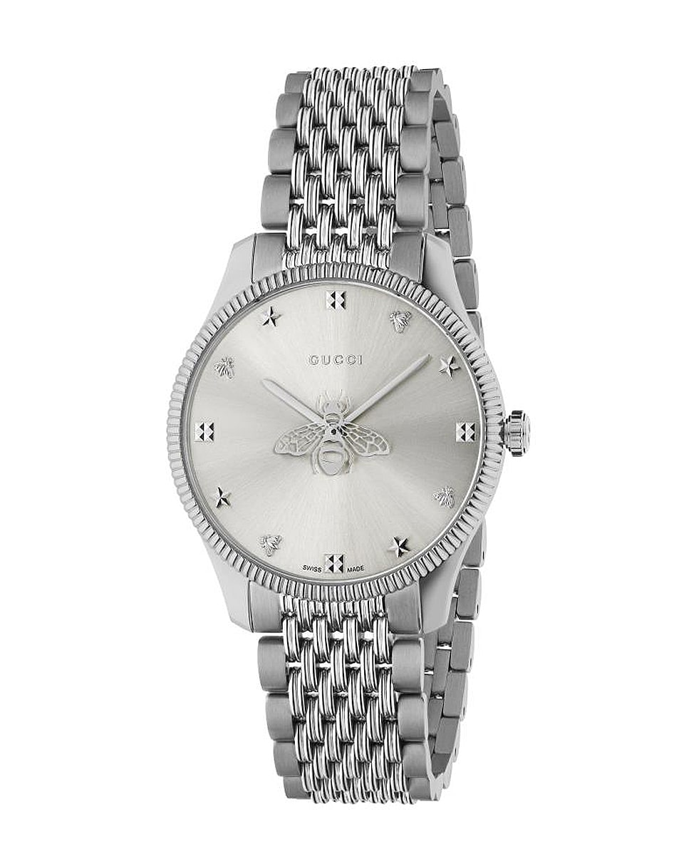 Image 1 of Gucci G Timeless Slim 36mm Watch in Steel