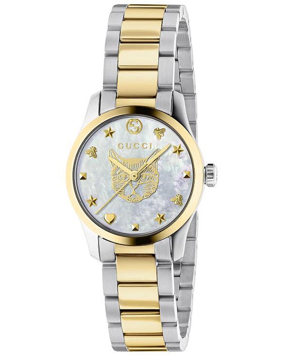 Image 1 of Gucci Feline 27mm Watch in Steel & Yellow Gold
