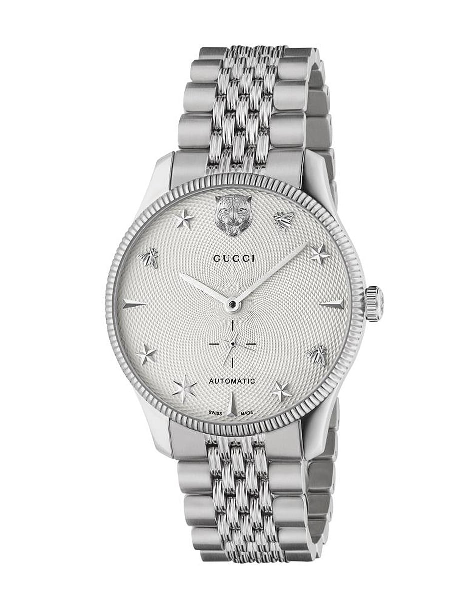 Image 1 of Gucci G-Timeless Watch in Silver
