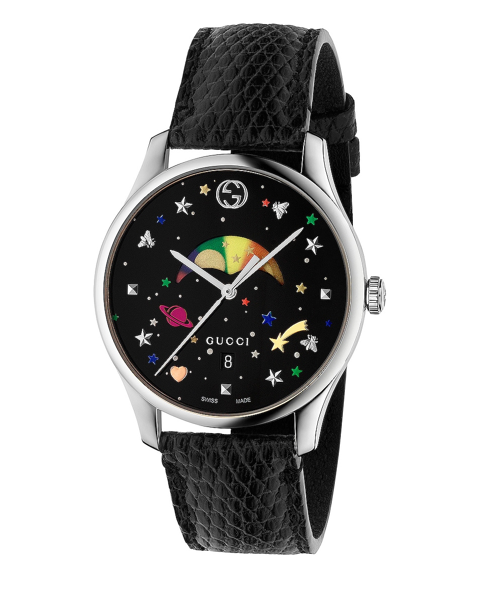 Image 1 of Gucci 36MM G-Timeless Moonphase Watch in Black
