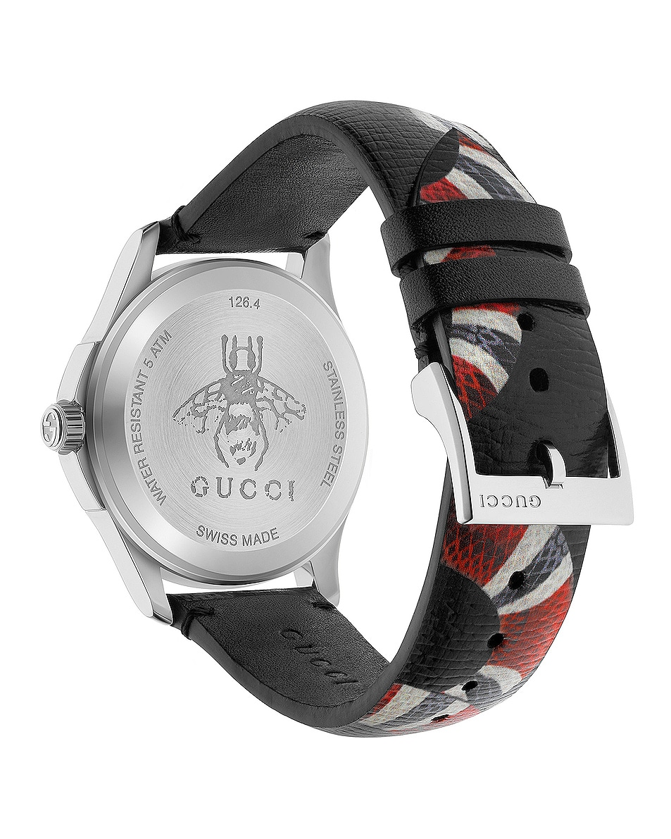 Image 2 of Gucci 38MM Le Marche des Merveilles Printed Snake Watch in Grey & Multicolor