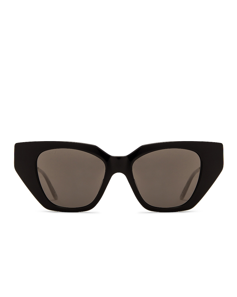 Image 1 of Gucci Acetate Cat Eye Sunglasses in Shiny Black