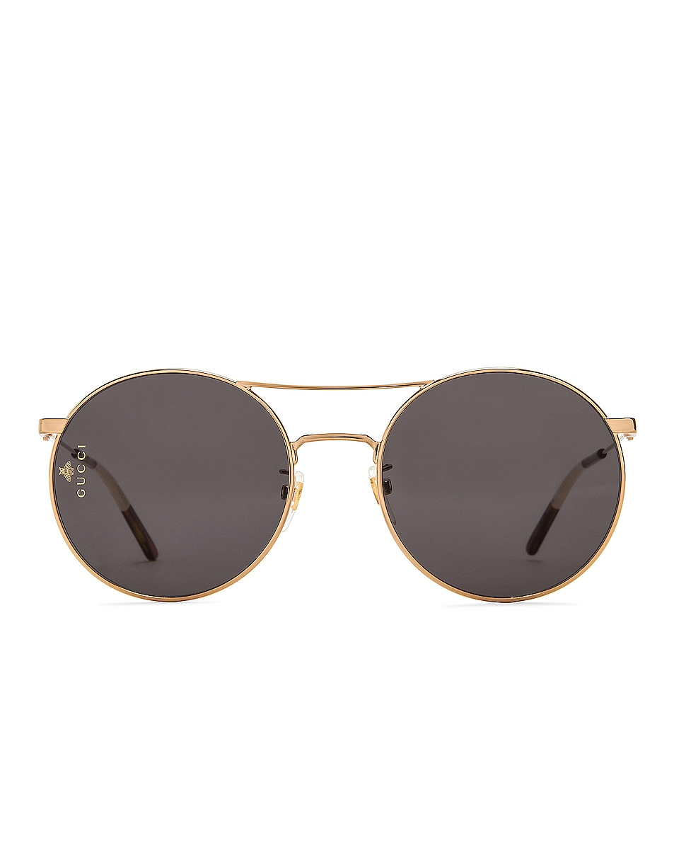 Image 1 of Gucci Metal Round Sunglasses in Shiny Endura Gold
