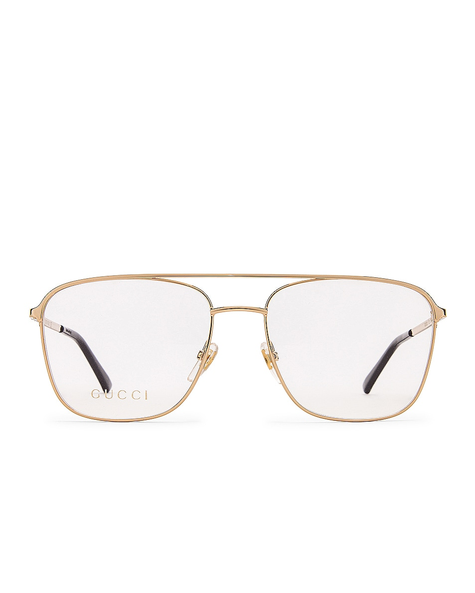 Image 1 of Gucci Aviator Optical Sunglasses in Gold
