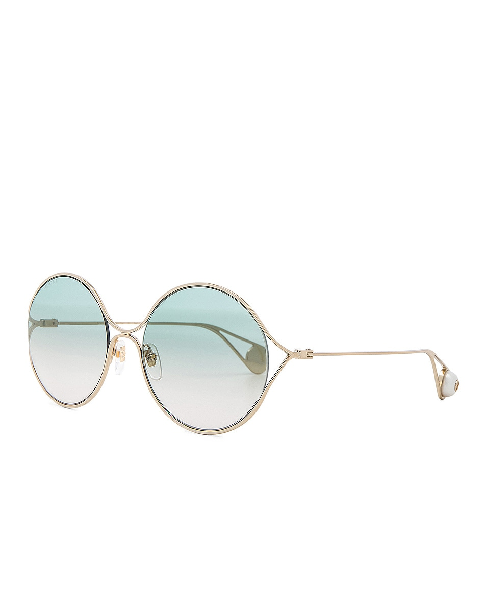 Image 2 of Gucci Fork Sunglasses in Gold