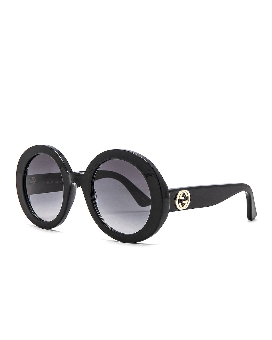 Image 2 of Gucci GG Acetate Sunglasses in Black