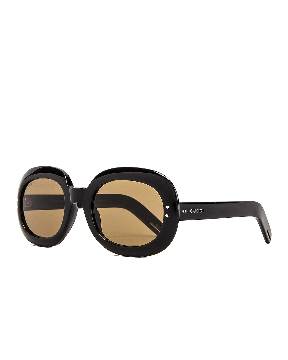 Image 2 of Gucci Small Acetate Sunglasses in Brown
