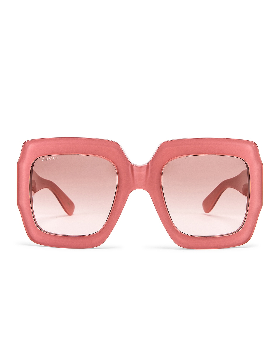 Image 1 of Gucci Shiny Rose Sunglasses in Brown
