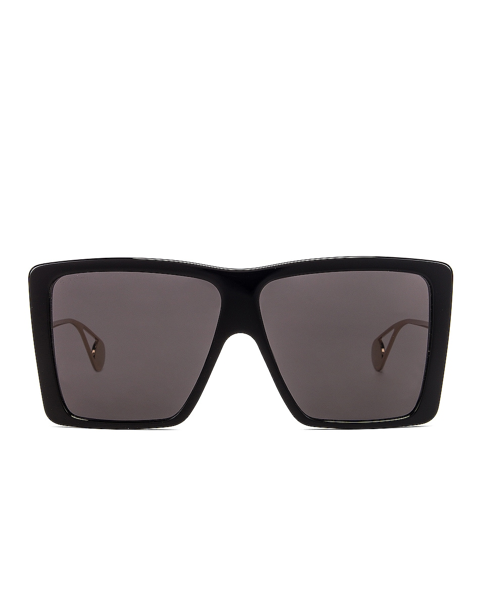 Image 1 of Gucci Acetate Square Sunglasses in Grey